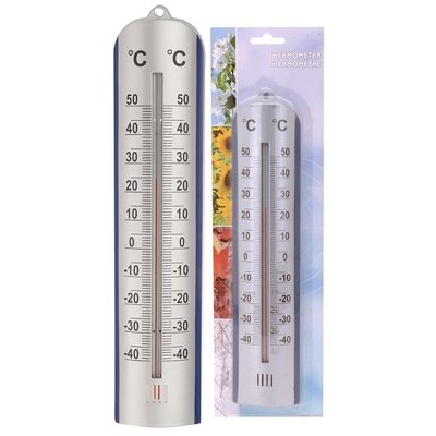 Thermometer zilver 275mm op blister