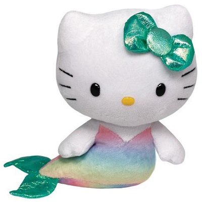 TY Hello Kitty Pluche Kat Mermaid 15cm