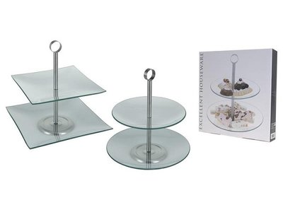 Etagere 2-laags glas